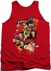 DC Universe tank top Justice League Dripping Characters mens red