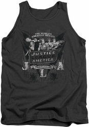 DC Universe tank top Justice League Greatest Heroes mens charcoal