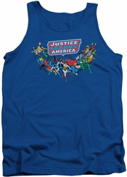 DC Universe tank top Justice League Here They Come mens royal