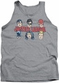 DC Universe tank top Justice League Lineup mens athletic heather