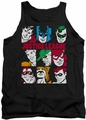 DC Universe tank top Justice League Nine Blocks Of Justice mens black