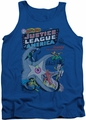 DC Universe tank top Justice League No 28 mens royal