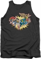 DC Universe tank top Justice League Please Get Me mens charcoal