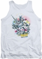 DC Universe tank top Justice League Power Trio mens white