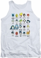 DC Universe tank top Justice League Superhero Issues mens white