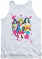 DC Universe tank top Justice League We Are Superior mens white