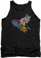 DC Universe tank top Lite Brite Superman mens black