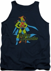 DC Universe tank top Martian Manhunter mens navy