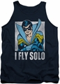 DC Universe tank top Nightwing Fly Solo mens navy