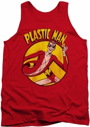 DC Universe tank top Plastic Man mens red