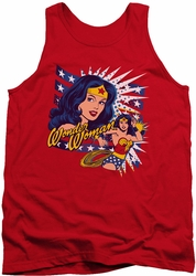 DC Universe tank top Pop Art Wonder Woman mens red