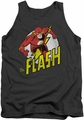 DC Universe tank top Run Flash Run mens charcoal