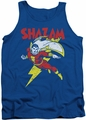 DC Universe tank top Shazam Let's Fly mens royal blue