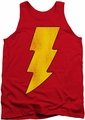 DC Universe tank top Shazam Logo Distressed mens red