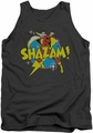 DC Universe tank top Shazam Power Bolt mens charcoal