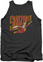 DC Universe tank top Shazam Retro Marvel mens charcoal
