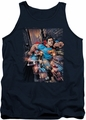 DC Universe tank top Superman Action Comics #1 mens navy