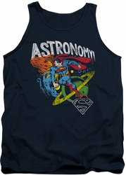 DC Universe tank top Superman Astronomy mens navy