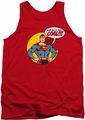 DC Universe tank top Superman Coal mens red