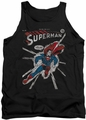 DC Universe tank top Superman Cover Me mens black