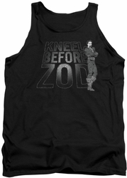 DC Universe tank top Superman Kneel Zod mens black