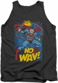 DC Universe tank top Superman No Way mens charcoal