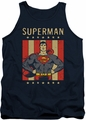 DC Universe tank top Superman Retro Liberty mens navy