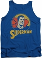 DC Universe tank top Superman Super Circle mens royal blue