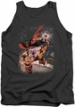 DC Universe tank top Teen Titans #1 mens charcoal