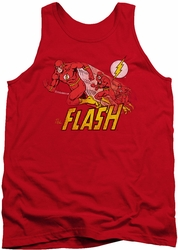 DC Universe tank top The Flash Crimson Comet mens red