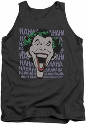 DC Universe tank top The Joker Dastardly Merriment mens charcoal