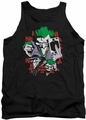 DC Universe tank top The Joker Four Of A Kind mens black