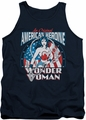 DC Universe tank top Wonder Woman American Heroine mens navy
