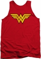DC Universe tank top Wonder Woman Logo Distressed  mens red
