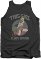DC Universe tank top Wonder Woman Plays Rough mens charcoal