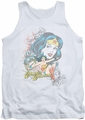 DC Universe tank top Wonder Woman Wonder Scroll mens white
