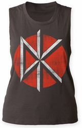 Dead Kennedys Distressed Logo juniors muscle tank vintage black womens pre-order