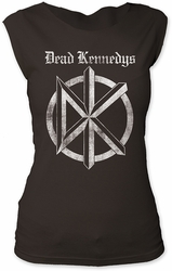 Dead Kennedys distressed old english logo junior's cut tee pre-order