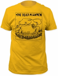 Dead Milkmen big lizard fitted jersey tee mens ginger pre-order