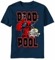 Deadpool Cover Pool t-shirt men navy