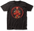 Deadpool Crossed fitted jersey tee black mens pre-order