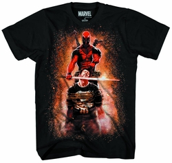Deadpool Crumbling Castle Px Black T-Shirt