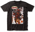 Deadpool Here Comes Deadpool fitted jersey tee black mens pre-order