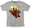 Deadpool Outta the Way fitted jersey tee heather grey mens pre-order