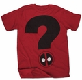 Deadpool Question Mark Px Red T-Shirt
