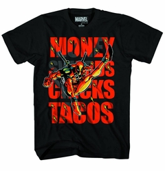 Deadpool Swords & Tacos Black T-Shirt