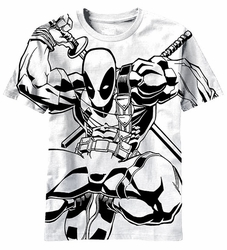 Deadpool Wade Ninja t-shirt men white