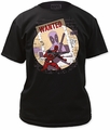 Deadpool Wanted black mens t-shirt pre-order