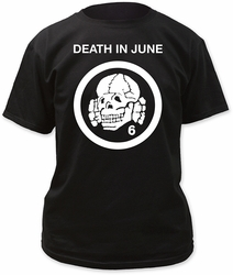 Death In June Totenkopf 6 Logo Adult t-shirt pre-order