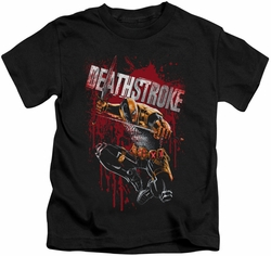 Deathstroke kids t-shirt Blood Splattered black